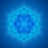 Sacred geometry symbol blue background Stock Photos