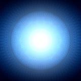 Sacred geometry symbol blue background Stock Image
