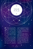 Sacred geometry symbol.Flayer bfnner template Royalty Free Stock Photos