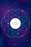 Sacred geometry symbol on space background Royalty Free Stock Photo