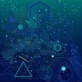 Sacred geometry symbols and elements background. Elements, symbols and schemes of physics, chemistry and sacred geometry. The science theme Stock Images