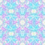 Sacred Geometry Symbols in Mandala seamless pattern. Vintage dec Royalty Free Stock Image