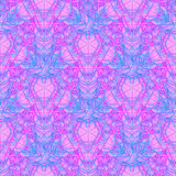 Sacred Geometry Symbols in Mandala seamless pattern. Vintage dec Stock Image