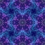 Sacred Geometry Symbols in Mandala seamless pattern. Vintage dec Stock Photos