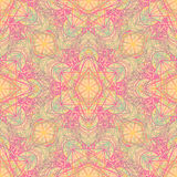 Sacred Geometry Symbols in Mandala seamless pattern. Vintage dec Stock Images