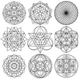 Sacred Geometry Symbols Vector - Set 03 Royalty Free Stock Image
