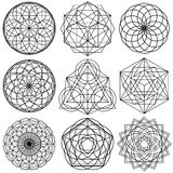 Sacred Geometry Symbols vector - set 02 royalty free illustration