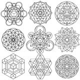 Sacred Geometry Symbols vector - set 04 royalty free illustration
