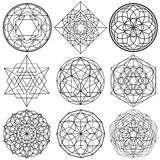 Sacred Geometry Symbols vector - set 01 Stock Photography