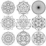 Sacred Geometry Symbols vector - set 03 stock illustration