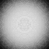 Sacred geometry, triangle design gray background. Abstract vector illustration Stock Photography