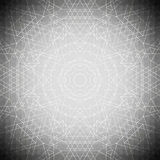 Sacred geometry, triangle design gray background. Abstract vector illustration Royalty Free Stock Photography
