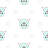 Sacred geometry triangle shapes seamless vector pattern. Stock Illustration