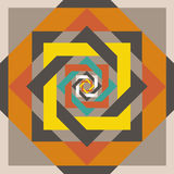 Geometrical design squeare in a square Stock Images