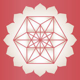 Star Tetrahedron lotus print Royalty Free Stock Image