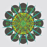 Flower of Life seed design Royalty Free Stock Photos