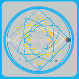Sacred geometry vector design elements. Alchemy, religion, philosophy, spirituality, hipster symbols and . Stock Photo