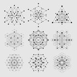 Sacred Geometry Vector Design Elements. Alchemy, Religion, Philosophy, Spirituality, Hipster Symbols And Elements. Stock Images