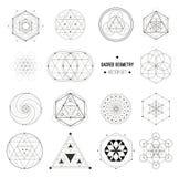 Vector set of sacred geometry symbols royalty free illustration