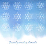 Sacred geometry vector elements Stock Images