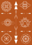 Sacred geometry, vector graphic design elements. Set Royalty Free Stock Photo