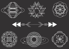 Sacred geometry, vector graphic design elements. Set Royalty Free Stock Image