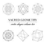 Sacred Geometry Volume Two. Set of Sacred Geometry Art. Geometric Vector Art Royalty Free Stock Image