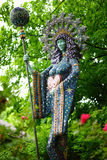 Sacred goddess with scepter - vertical Royalty Free Stock Photo