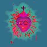 Sacred Heart. An illustration of Sacred Heart (cmyk to rgb Stock Photo