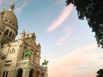 Sacred Heart Basilica Paris Stock Image