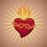 Sacred heart blessed image Stock Photo