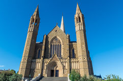 Sacred Heart Cathedral in Bendigo, Australia. Sacred Heart Cathedral in Bendigo is the seat of the bishop of Sandhurst, a roman catholic diocese.  It is a gothic Royalty Free Stock Photos
