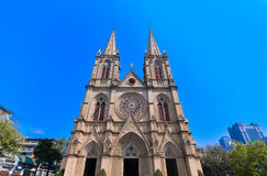Sacred Heart Cathedral. is a Gothic Revival Roman Catholic cathedral in Guangzhou, China Royalty Free Stock Image