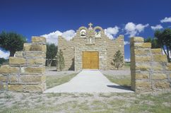 The Sacred Heart Church or Mission in Quemado New Mexico Stock Photo