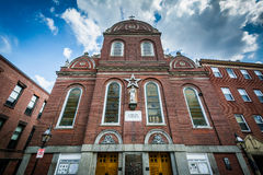 Sacred Heart Church, in the North End of Boston, Massachusetts. Royalty Free Stock Photos