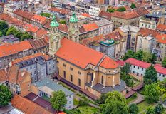 Sacred Heart Church, Zagreb Stock Photos