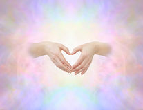 Sacred heart hand sign Royalty Free Stock Photography
