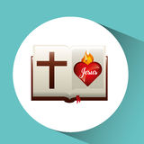 Sacred heart jesus on bible design. Illustration eps 10 Stock Photography