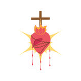 sacred heart jesus blessed Stock Photography