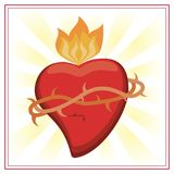 Sacred heart jesus christ image. Vector illustration eps 10 Royalty Free Stock Photography