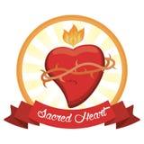 Sacred heart jesus christ image. Vector illustration eps 10 Stock Image