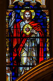Sacred Heart of Jesus Christ - Stained Glass Royalty Free Stock Photo