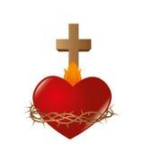 Sacred Heart of Jesus. Illustration design Royalty Free Illustration