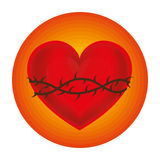Sacred Heart of Jesus. Illustration design Vector Illustration