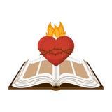 Sacred Heart of Jesus. Illustration design Stock Images