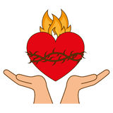 Sacred Heart of Jesus. Illustration design Stock Illustration