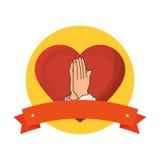Sacred Heart of Jesus. Illustration design Royalty Free Stock Photography
