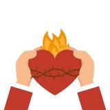 Sacred Heart of Jesus. Illustration design Royalty Free Stock Photo
