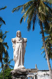 Sacred Heart of Jesus statue. With broken arms Stock Photography