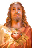 Sacred heart of Jesus statue. Statue depicting the devotion of the Sacred Heart representing Jesus and his love of humanity Royalty Free Stock Photo